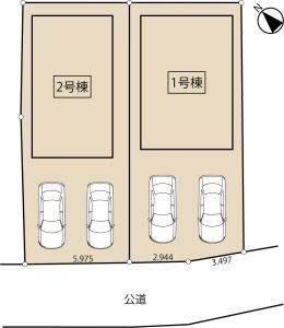 清須・須ケ口の家 区画図