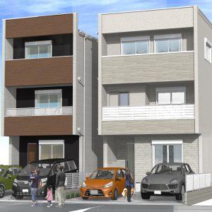 須ヶ口の家パース2棟